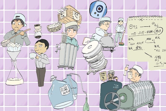 白いもろみが、透明な日本酒になるまでの過程を追う! - 品質管理の重要工程、上槽以降を学ぶ