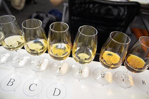 7酒類の熟成違いの酒を飲み比べ。