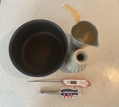 湯煎で使う道具の画像